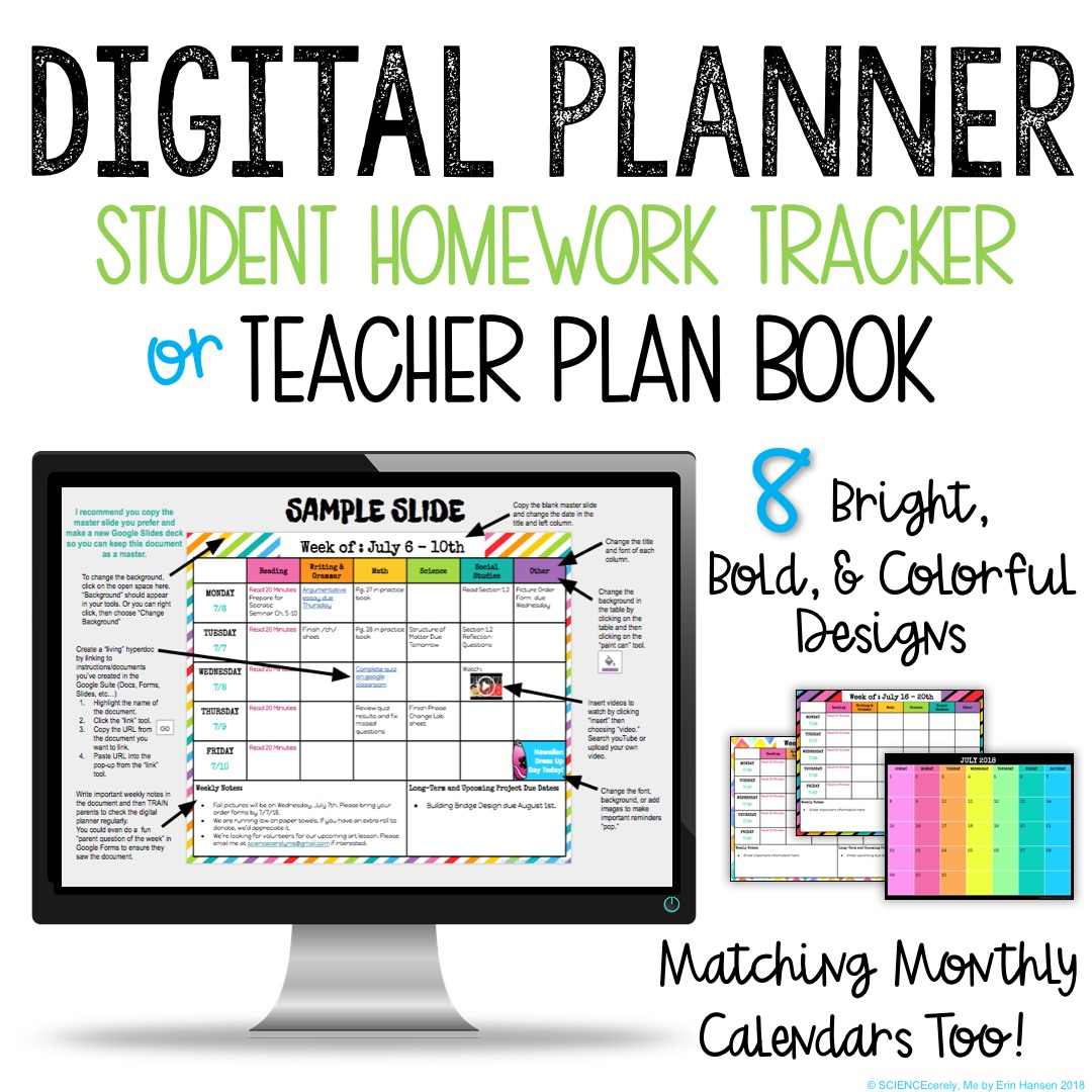 Digital Teacher or Student Planner