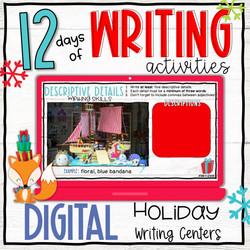 Digital Holiday Writing Activities - 12 Days Countdown