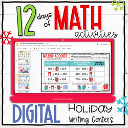 Digital Holiday Digital Holiday Writing Activities - 12 Days Countdown Activities - 12 Days Countdow