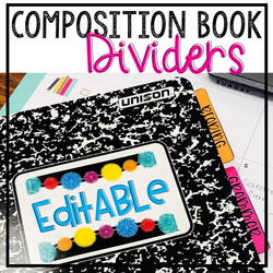 Composition Book Divider COVER
