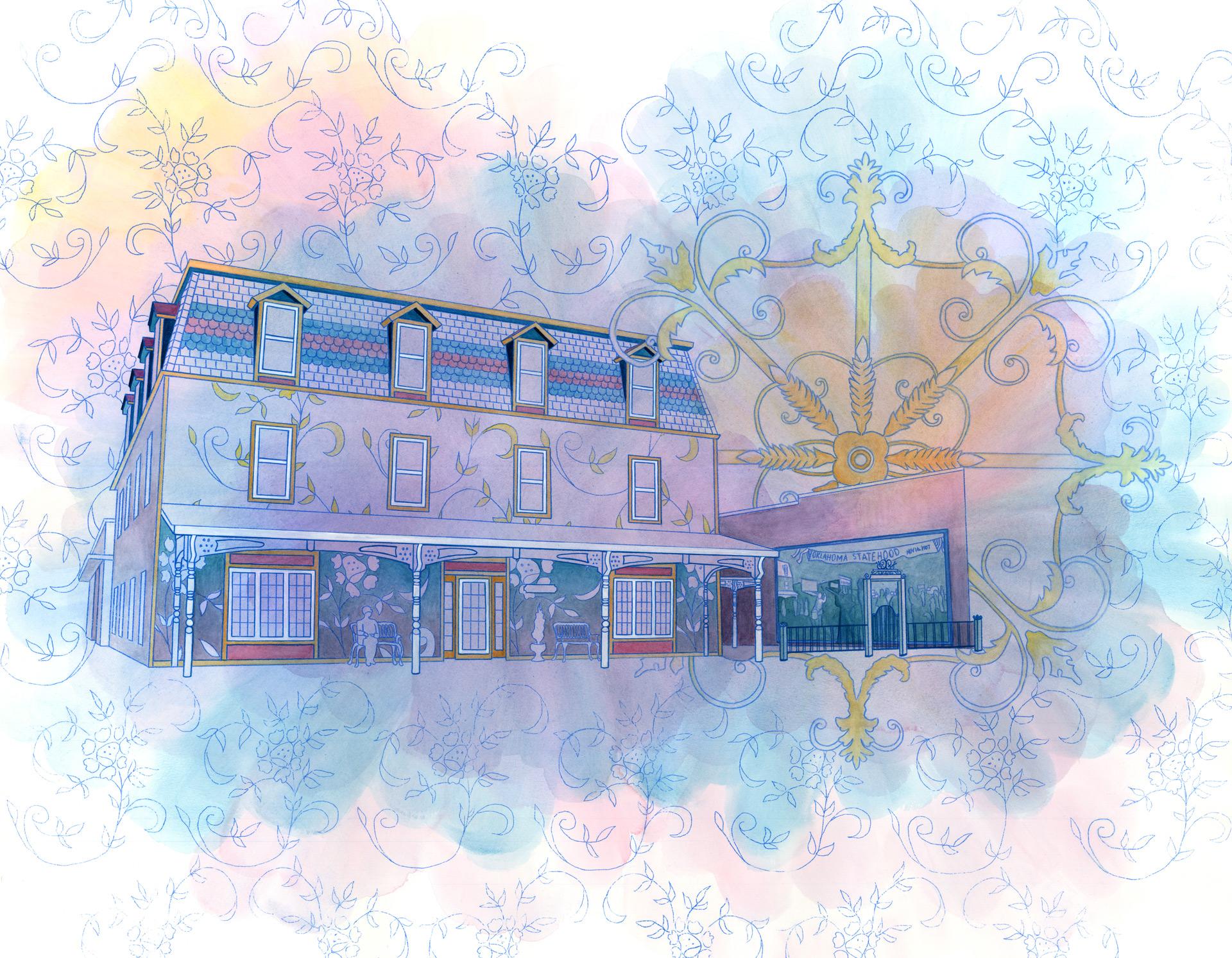 "Victorian Historic Hotel, 36"" x 42"""