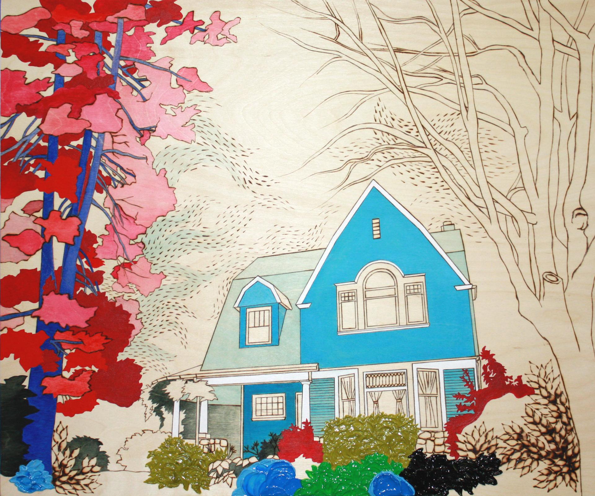 """Secret Garden House, 20"""" x 24"""""""