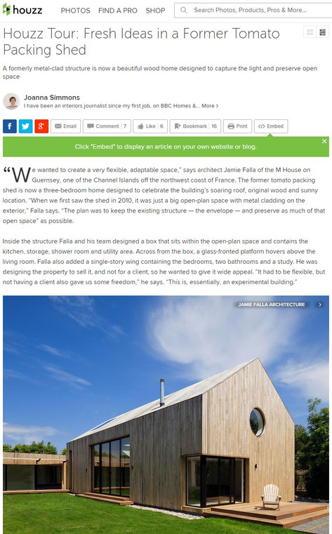 M House: Fresh Ideas in a Former Tomato Packing Shed