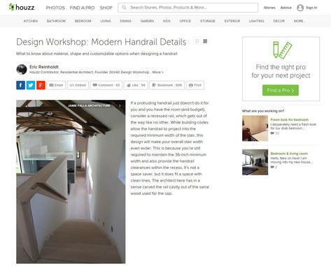 M House: Modern Handrail Details