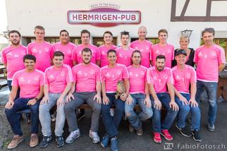 Mannschaftsfoto für Sponsor FC Hermrigen