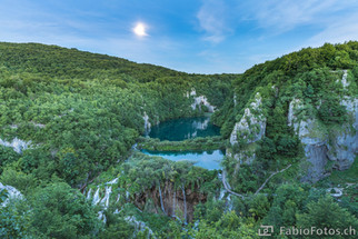 Nationalpark Plitvicer Seen bei Vollmond - Kroatien