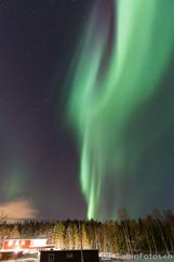 Nordlicht über Haus - Tromsø, Norwegen