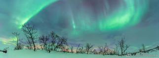 Panorama Nordlicht - Kilpisjärvi, Finnland