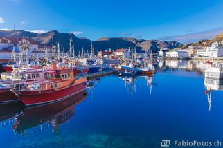 Hafen Honningsvåg - nahe Nordkapp, Norwegen