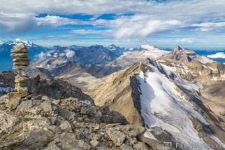 Gipfel Wildhorn 3248 m.ü.M.