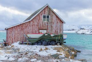 Fischerhaus am Fjord - Hillesøya, Norwegen