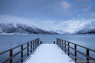 Nordische Ruhe - Steg auf der Insel Kvalø, Norwegen