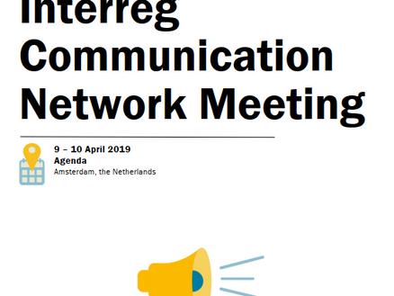 Interreg Communication Network Meeting (ICON), 9-10 April, Amsterdam