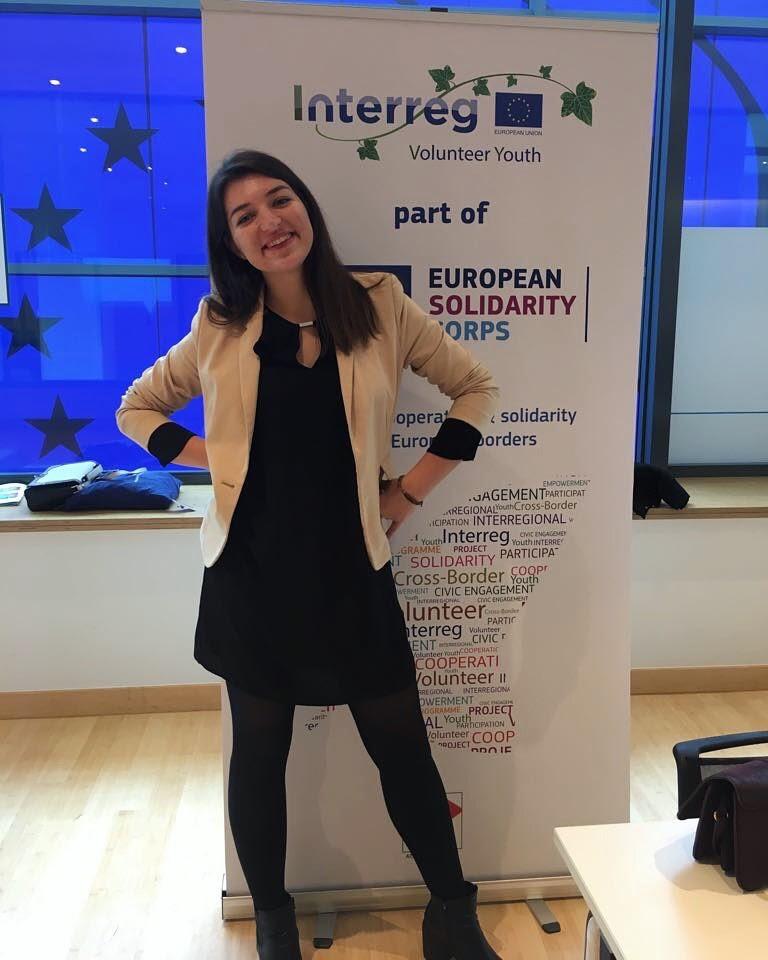 IVY volunteer Virginija at EuroPCom