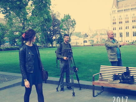 Shooting with European Commission's crew