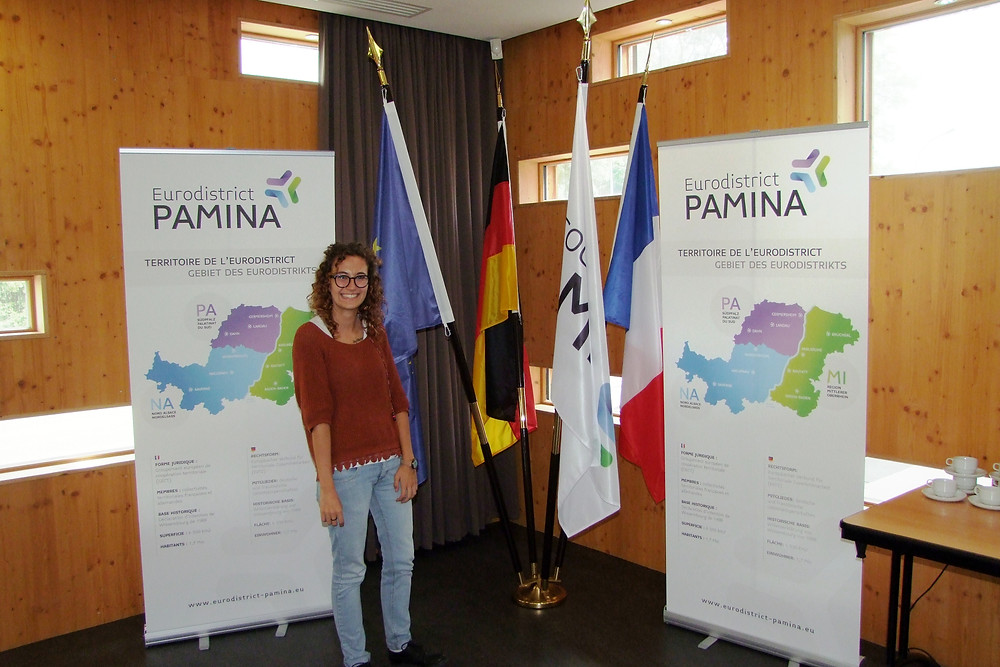 Valentina in the former Custom's office between France and Germany