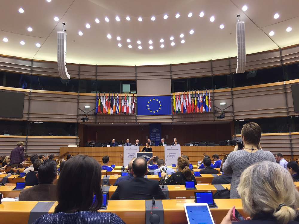 At the opening session in the European Parliament