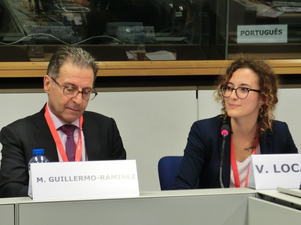 Valentina and AEBR Secretary General Martín Guillermo Ramírez at the European Week of Regions and Cities
