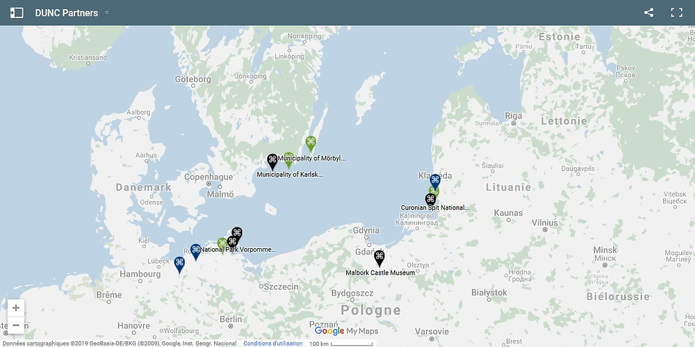 Geographic distribution of DUNC's UNESCO sites and partners – click on the map for details