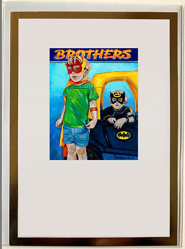 Brothers Art card