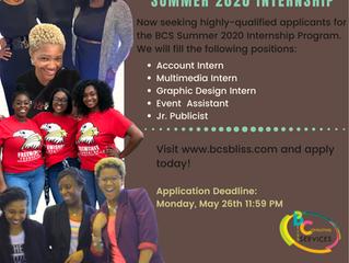 BCS Summer Internship Program Now Accepting Applications