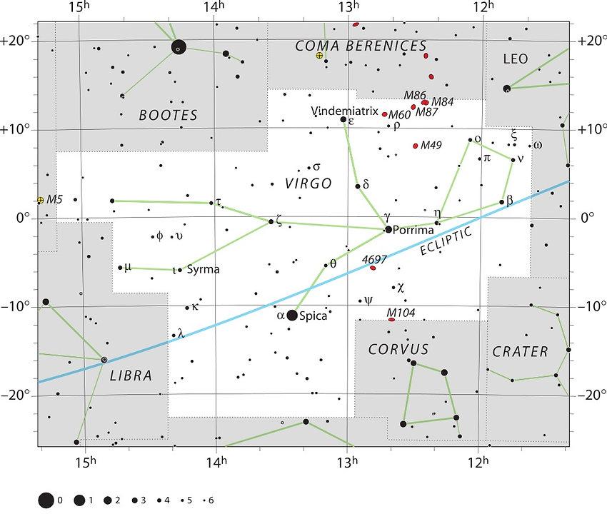Virgo UAI, la Vierge, Constellations, Ciel de Nuit