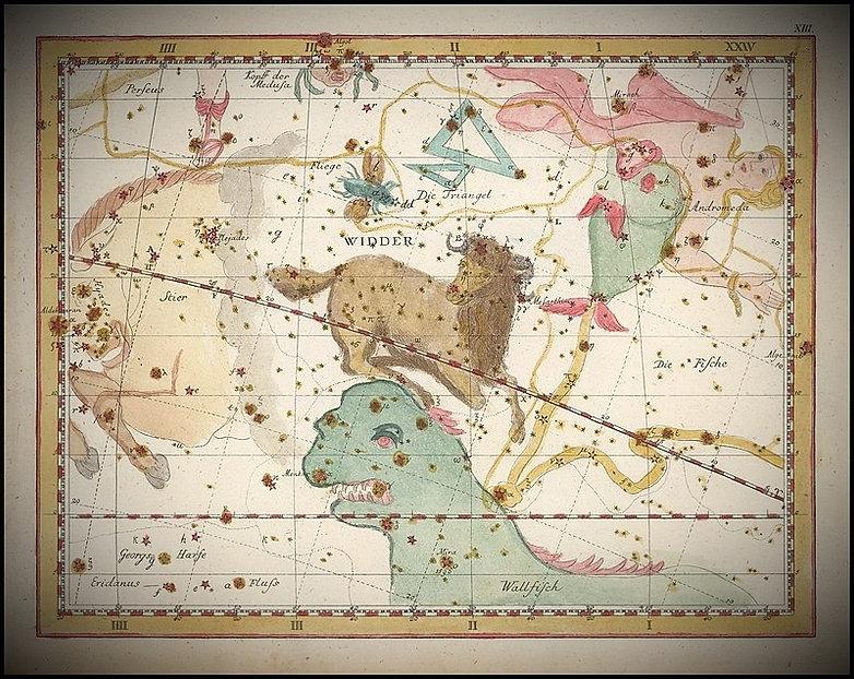 Aries, bélier, Constellation, Bode, Ciel de Nuit