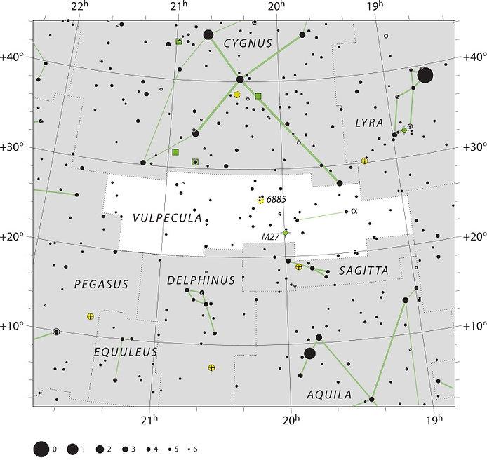Vulpecula UAI, Ciel de Nuit, Jean-Brice GAYET, constellation du Petit Renard