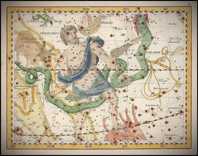 Johann Elert Bode Ophiuchus Serpentaire Jean-Brice GAYET Ciel de Nuit