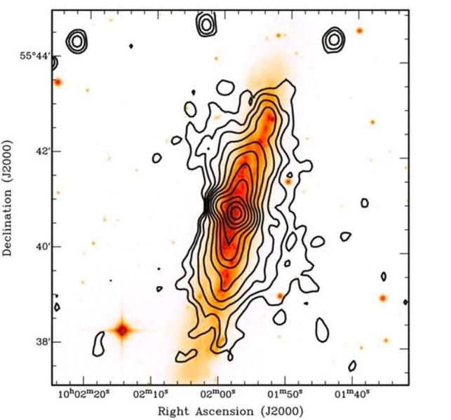 La distribution totale de HI autour de NGC 3079