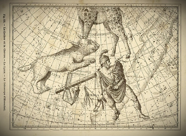Lynx Cocher Télescope d'Herschel Bode Jean-Brice GAYET Ciel de nuit