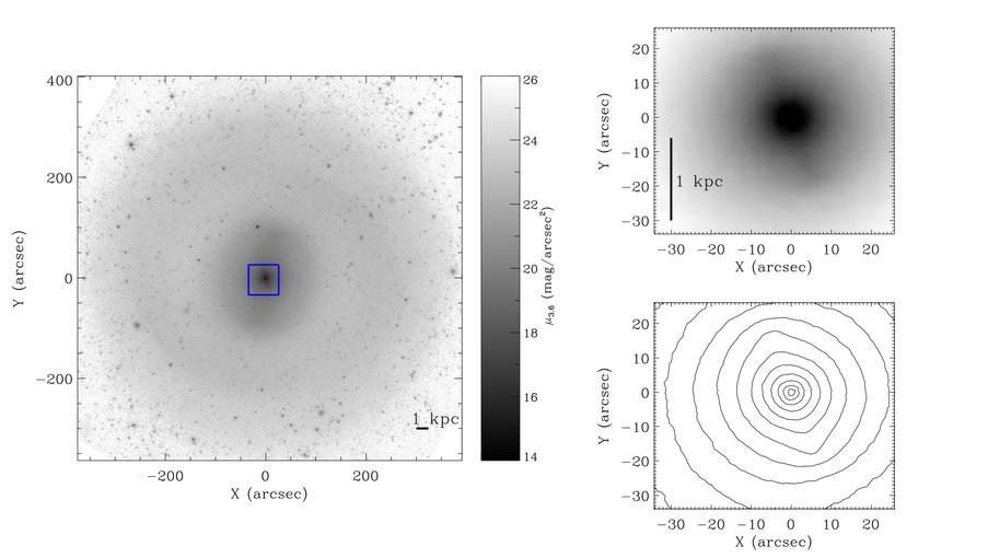 NGC 1291 imagée à 3.6 µm par S4G (Spitzer Survey of Stellar Structures in Galaxies)