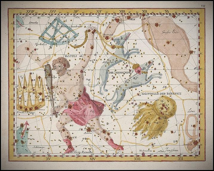 Bode, Bouvier, Bootes, constellation, ciel de nuit