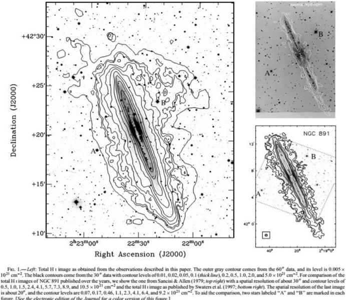Densité de HI de NGC 891