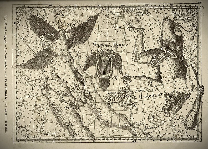 Lyre Lyra Constellation Flammarion Jean-Brice GAYET Ciel de nuit