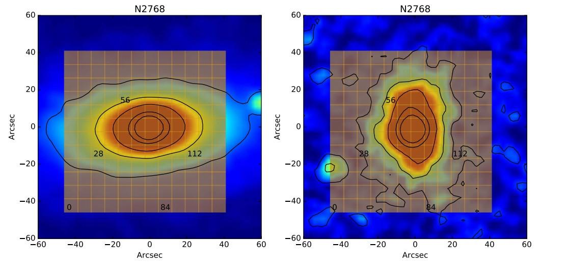 Cartographies de NGC 2768