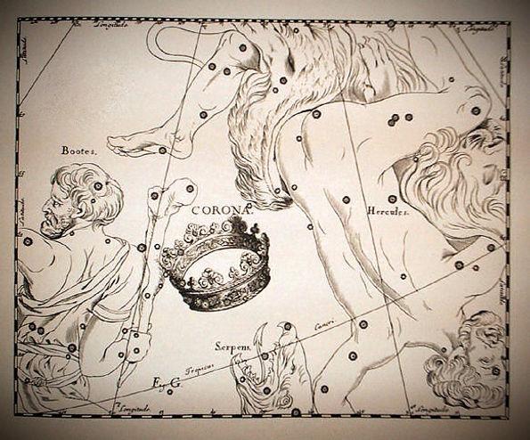 La Couronne Boréale par Johannes Hevelius, Uranographia, 1690