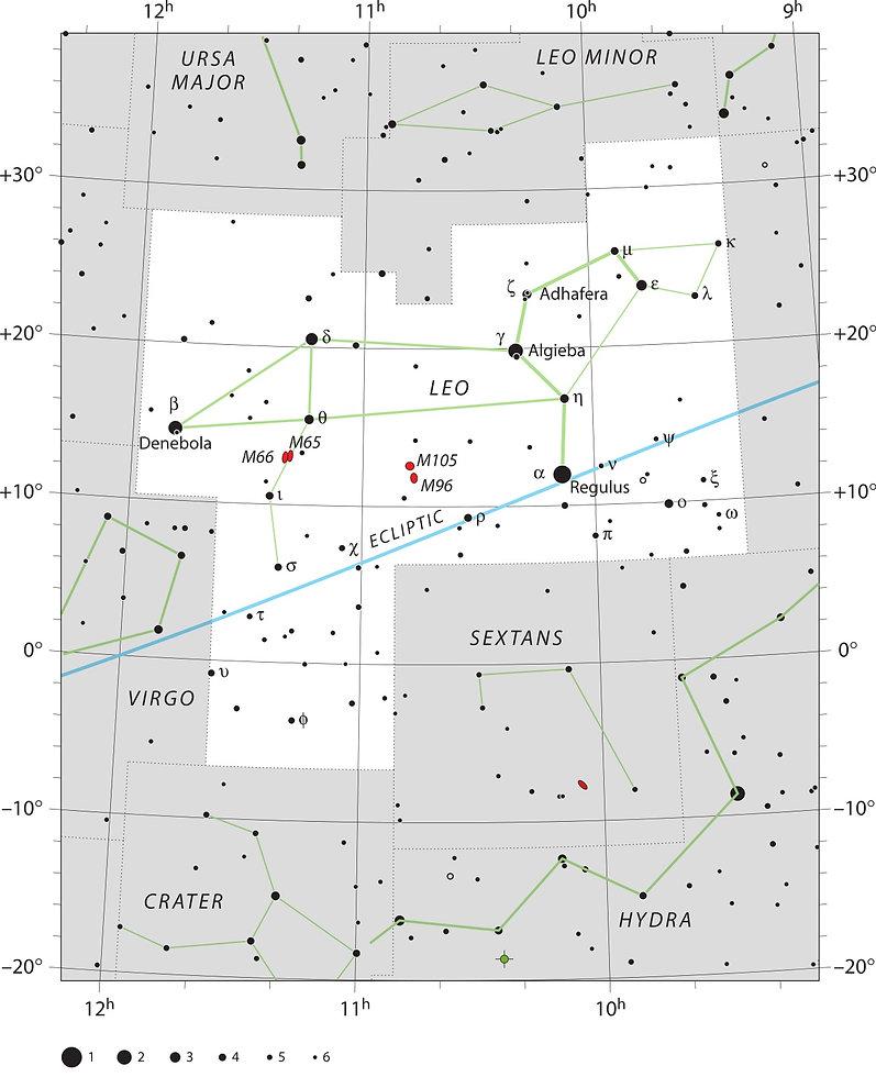 Leo Lion Constellation UAI IAU Jean-Brice GAYET Ciel de nuit