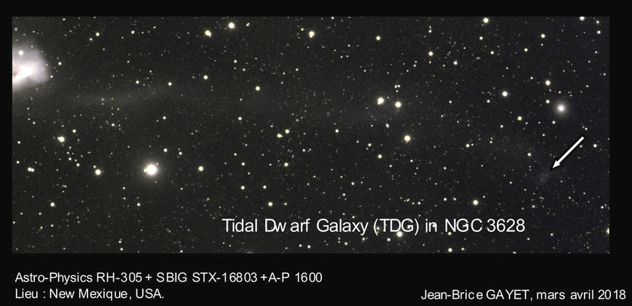 Exploration en bande optique de la Galaxie Naine de Marée de NGC 3628