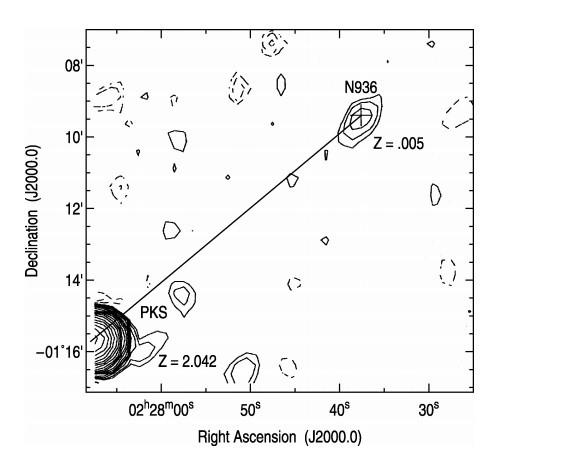Schéma 3 : Carte radio de NGC 936