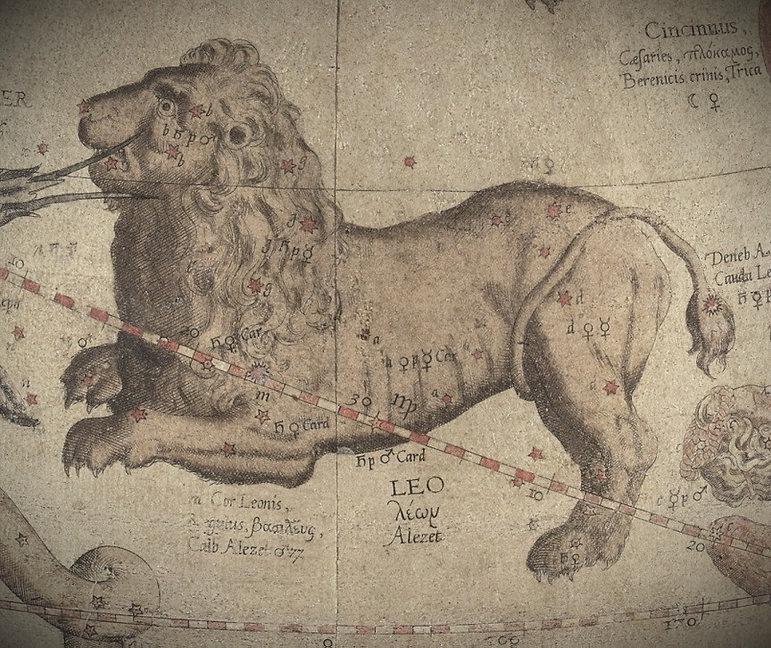 Lion Leo Constellation Mercator 1551 Jean-Brice GAYET Ciel de nuit