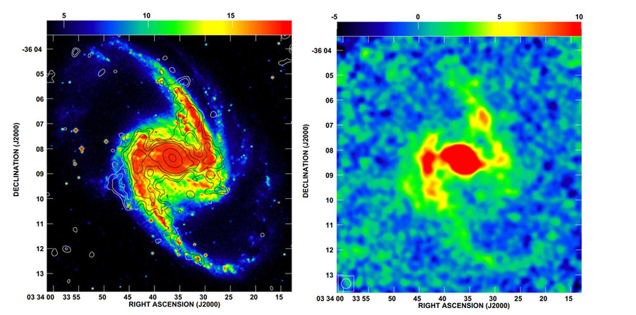 Poussières froides de NGC 1365