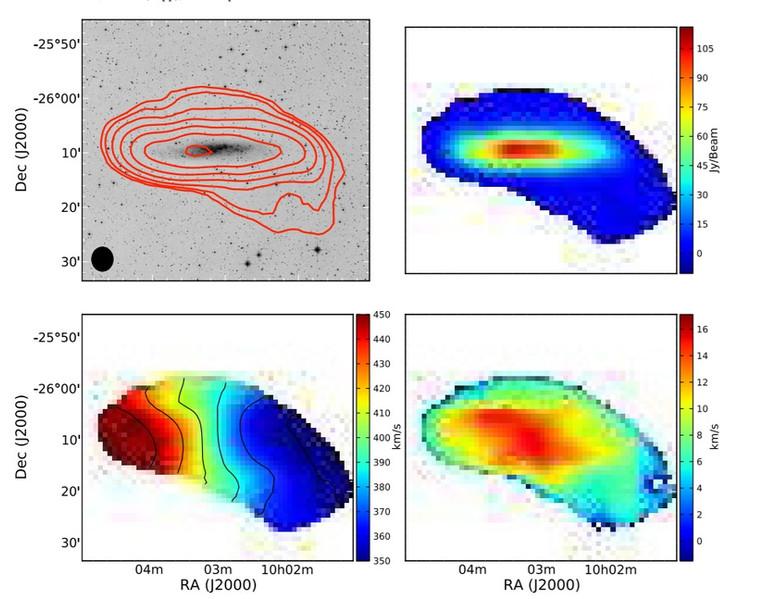 Carte de moments de NGC 3109