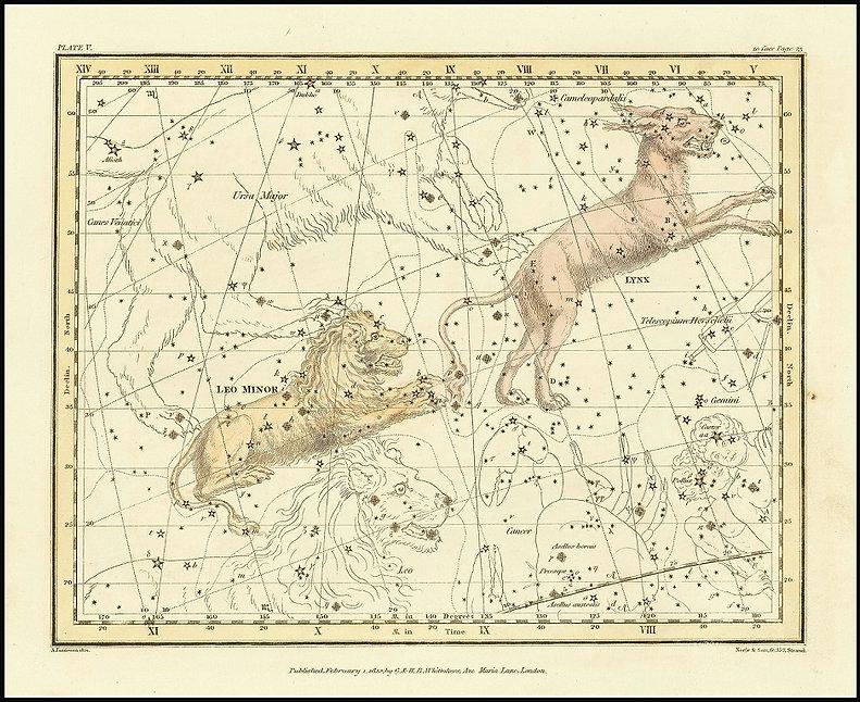 Alexander Jamieson Lynx A Celestial Atlas 1822 Jean-Brice GAYET Ciel de nuit