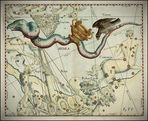 Hydre Hydra constellation Johannes Hevelius Jean-Brice GAYET