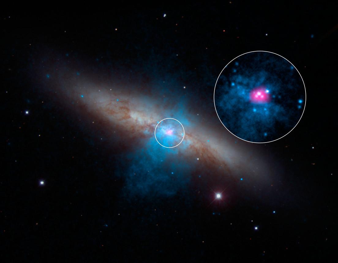 Sources de rayonnement X dans M82