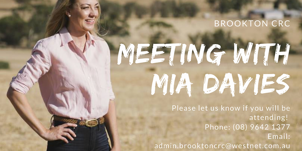 Meeting with Mia Davies