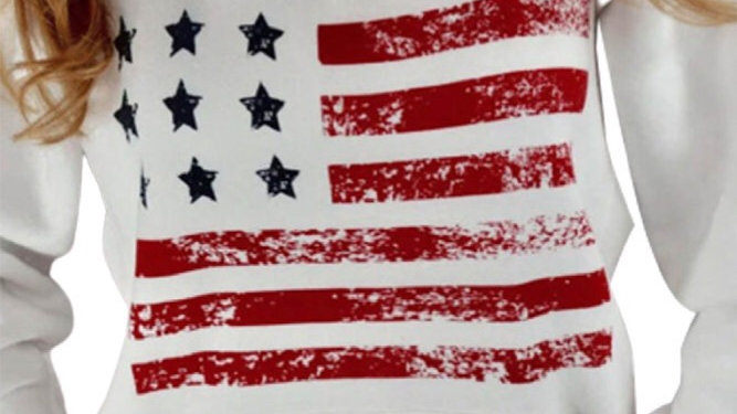 American flag Criss cross sweatshirt