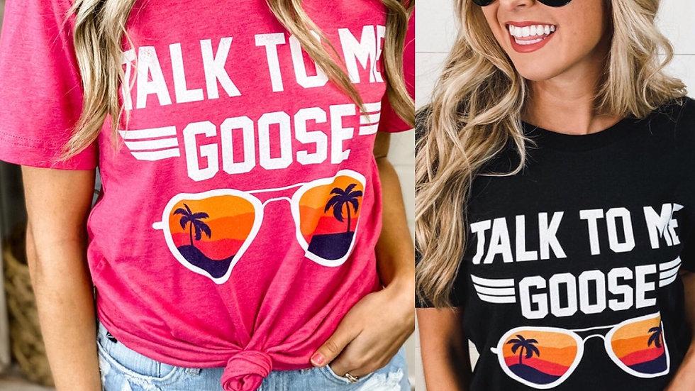 Talk to me goose aviator tee