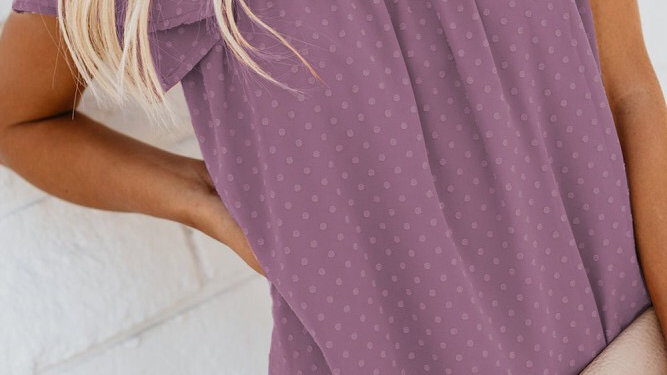 Tiered dotted ruffled tunic blouse